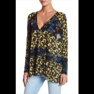 Free People Isabelle tunic top in Onyx Combo